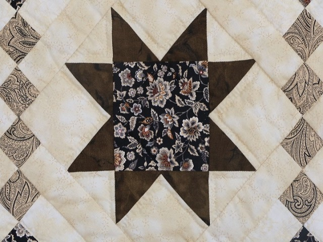 Brown Golden Cross Country Quilt Photo 4