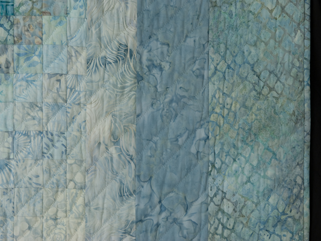 King Bargello Wave in Batiks