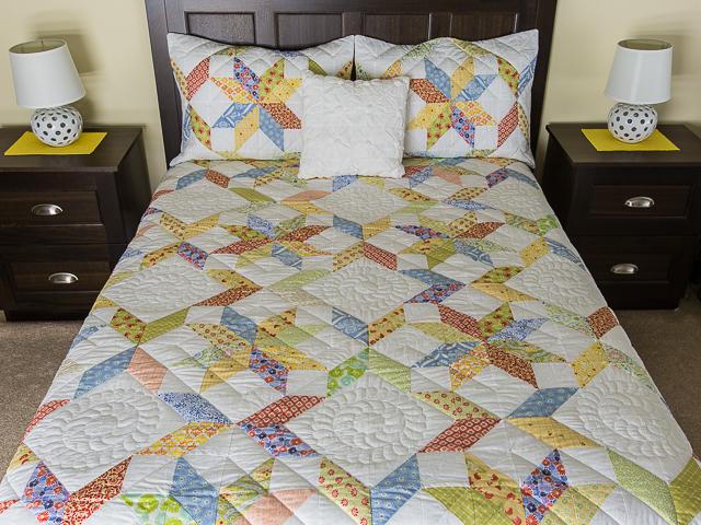 FRESH plus Pillow Shams Queen Size Bed Quilt Photo 1