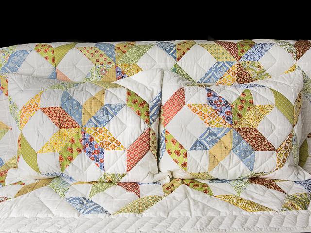 FRESH plus Pillow Shams Queen Size Bed Quilt Photo 4