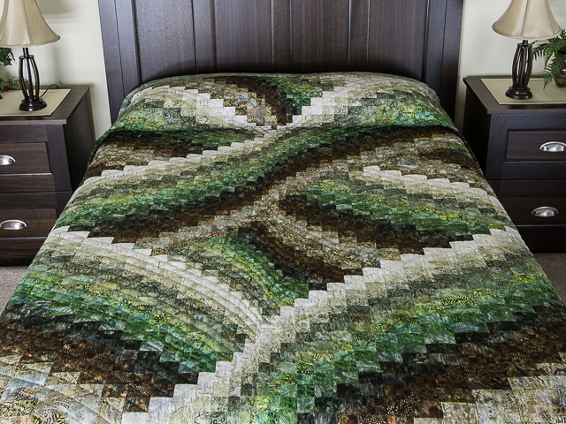 Twisted Bargello - Woodland colors