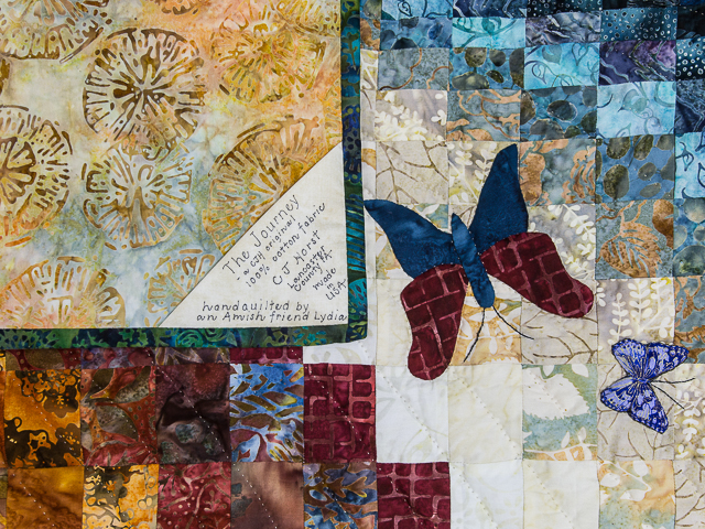 The Journey - King size   Applique/Piecing/Hand Quilting combination! Photo 6