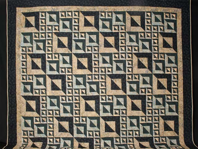 Magic Squares King size bed quilt Photo 2