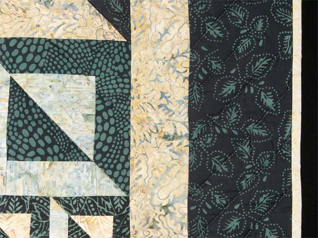 Magic Squares King size bed quilt Photo 5