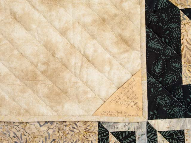Magic Squares King size bed quilt Photo 6