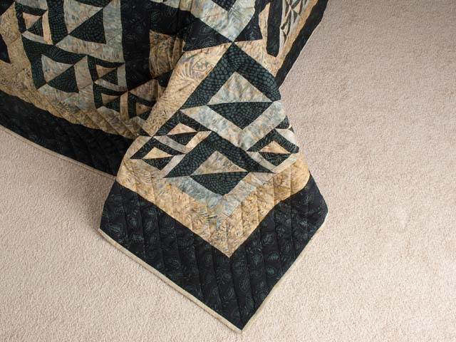 Magic Squares King size bed quilt Photo 7