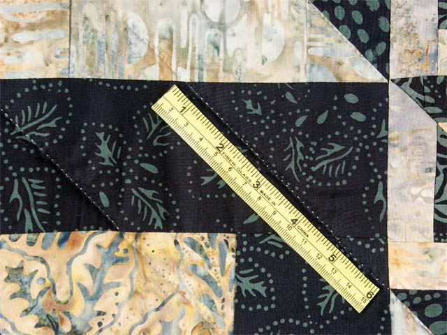Magic Squares King size bed quilt Photo 8