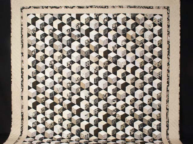 Tumbling Block Stars Queen Bed Size Photo 2