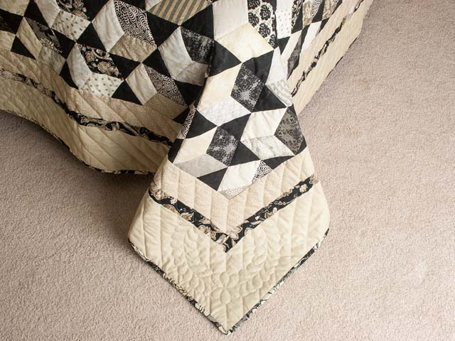 Tumbling Block Stars Queen Bed Size Photo 7