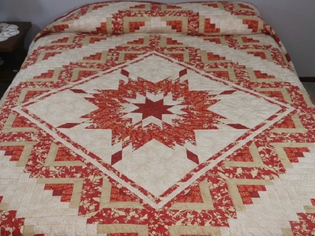 Lone Star Log Cabin Quilt Photo 1