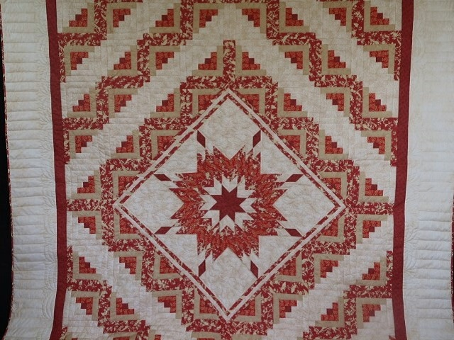 Lone Star Log Cabin Quilt Photo 2