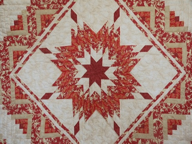 Lone Star Log Cabin Quilt Photo 3