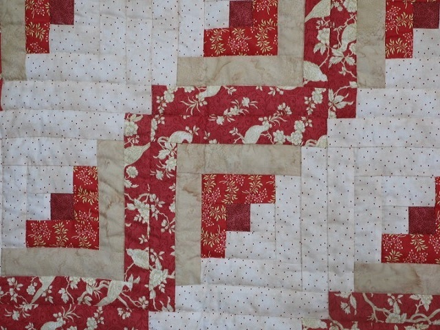 Lone Star Log Cabin Quilt Photo 6