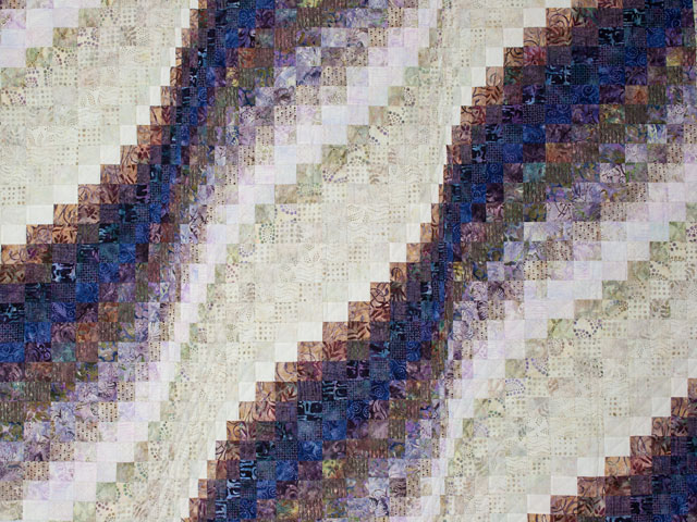 Queen Bargello Wave in Batiks