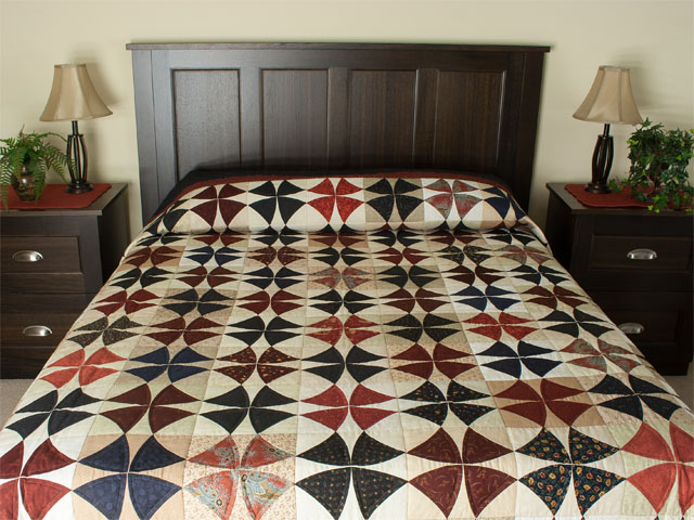Winding Ways in Navy/Burgundy/cream