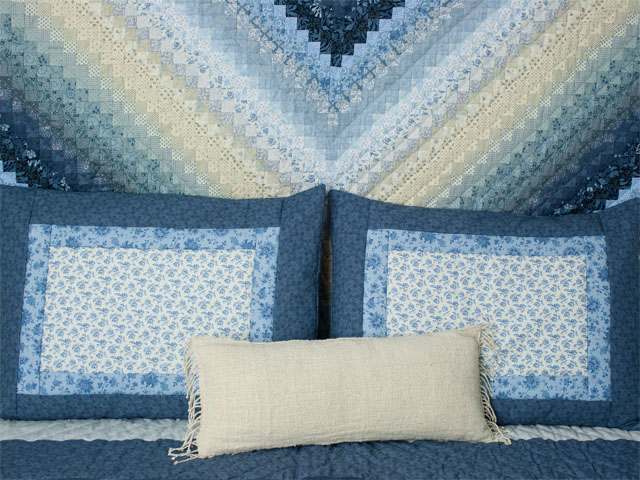 Ocean Blue Postage Stamp for Queen size bed 