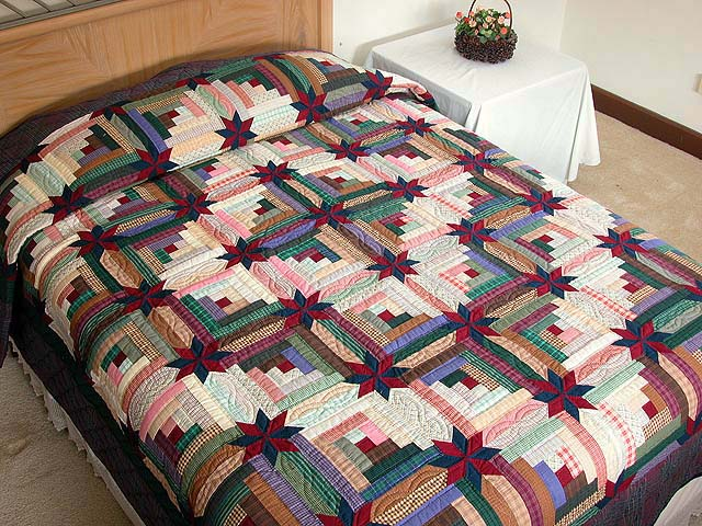 Multicolor Colorado Log Cabin Quilt Photo 1