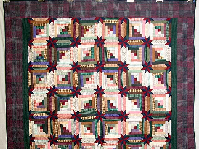 Multicolor Colorado Log Cabin Quilt Photo 2