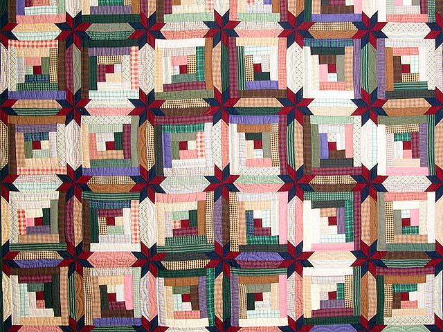 Multicolor Colorado Log Cabin Quilt Photo 3