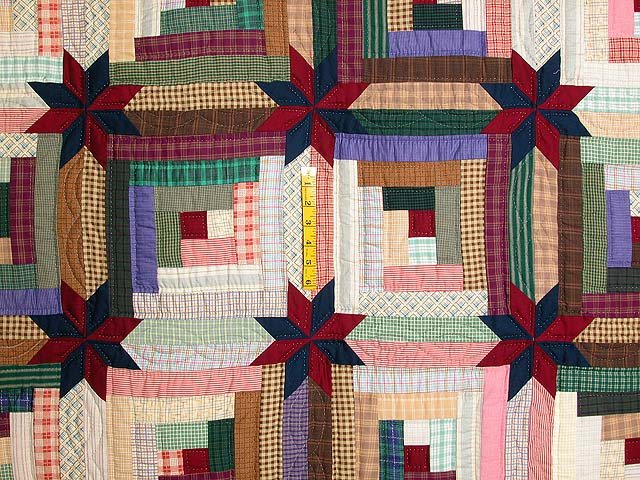 Multicolor Colorado Log Cabin Quilt Photo 4