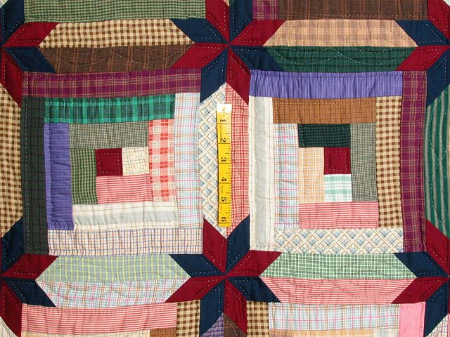 Multicolor Colorado Log Cabin Quilt Photo 5