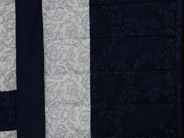 Navy Blue Lone Star Log Cabin Quilt Photo 7