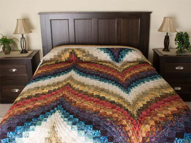 Bargello Flame  KING size bed quilt Photo 1