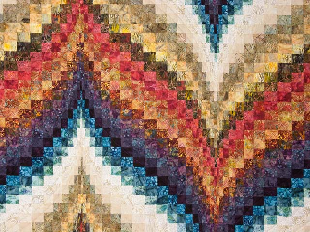 Bargello Flame  KING size bed quilt Photo 3