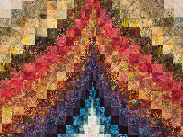 Bargello Flame  KING size bed quilt Photo 4
