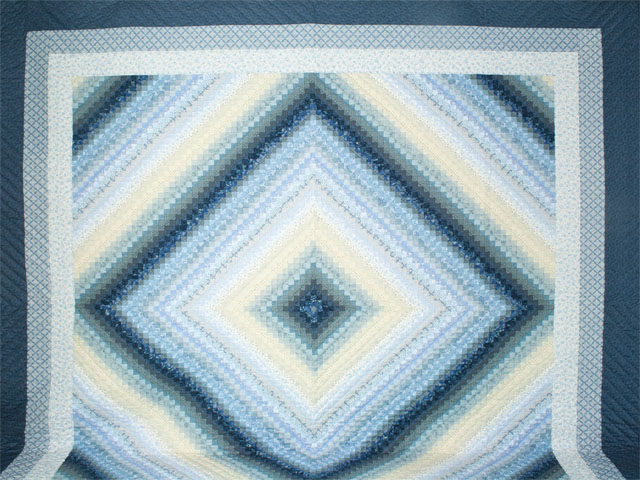 Postage Stamp King with 36 fabrics in blues/creams Photo 2