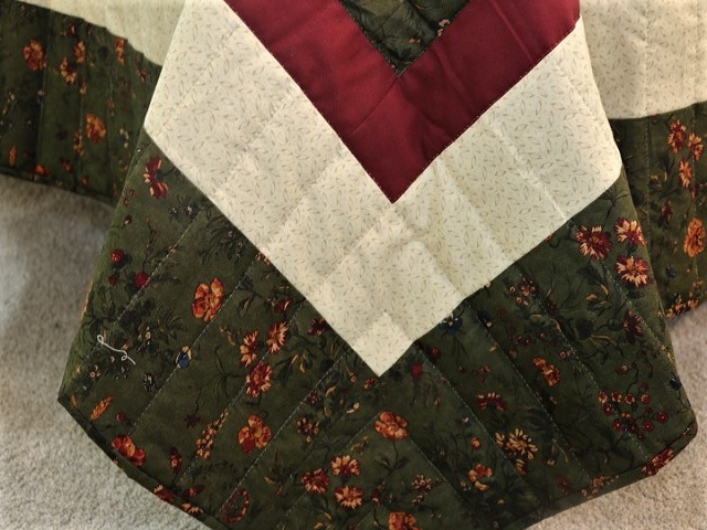 Earthtones Lone Star Log Cabin Quilt Photo 8