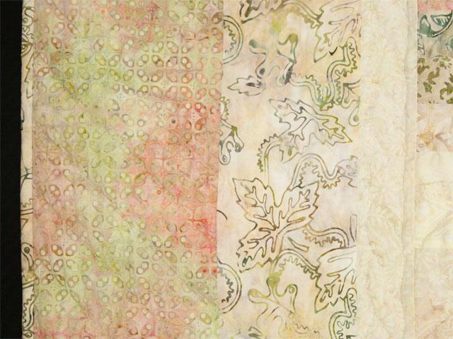 Colorsplash -  batik apricot/peach/soft creamy neutrals/greens Photo 5