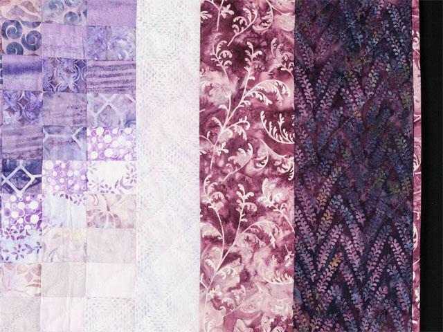 King Bargello Wave in Batiks Shades of purple Photo 5