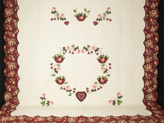 Wine, Rose and Green 