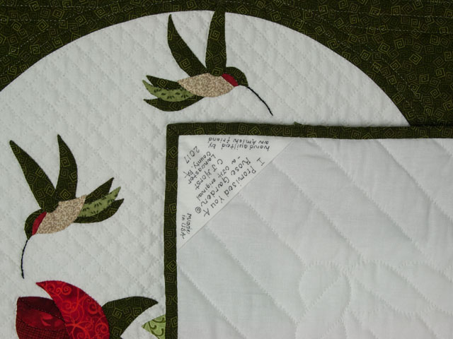 I Promised you a Rose garden Queen Quilt with appliqued shams included Photo 6