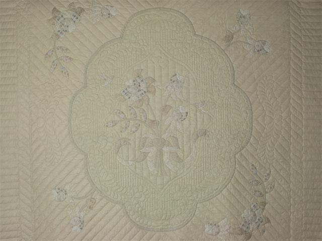 Lancaster Treasure - Queen  Chevron border/neutrals/tans/grays/ ivory Photo 3