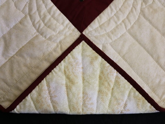 Brown and Gold Lone Star Log Cabin Quilt Photo 8