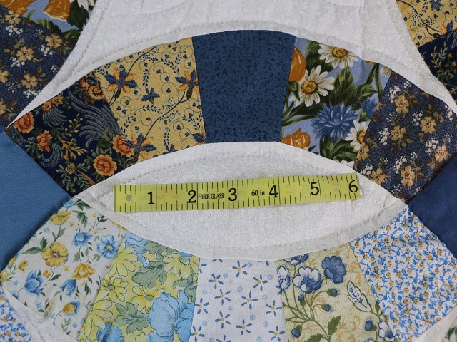 Blue and Yellow Wedding Ring Quilt Photo 6