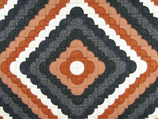 Burnt Orange and Black Ocean Wave Quilt Photo 3