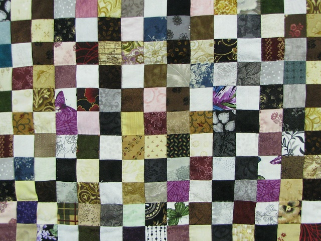 Multicolor Postage Stamp Quilt Photo 3