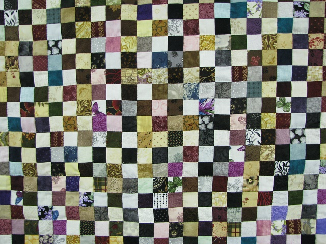 Multicolor Postage Stamp Quilt Photo 8