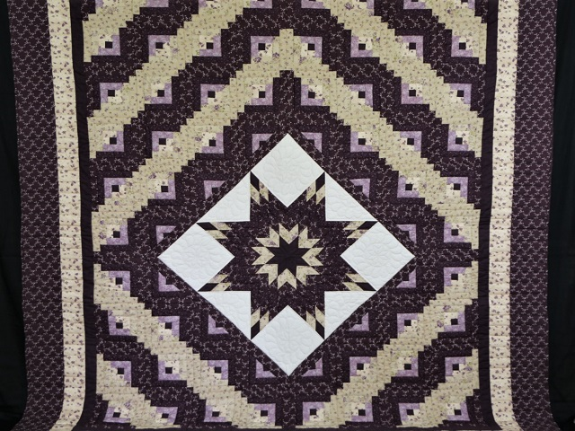 Queen Lone Star Log Cabin Quilt Photo 2