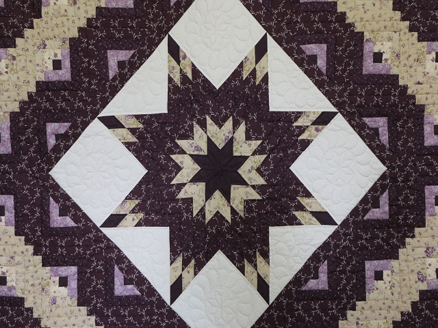 Queen Lone Star Log Cabin Quilt Photo 3