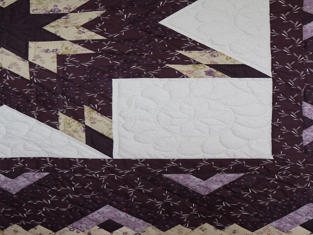 Queen Lone Star Log Cabin Quilt Photo 4
