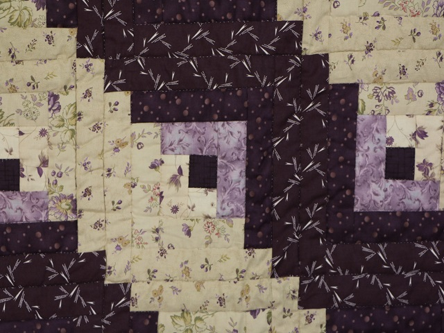 Queen Lone Star Log Cabin Quilt Photo 5