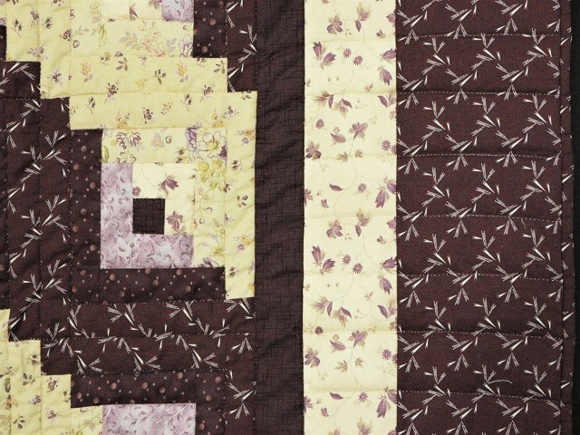 Queen Lone Star Log Cabin Quilt Photo 7