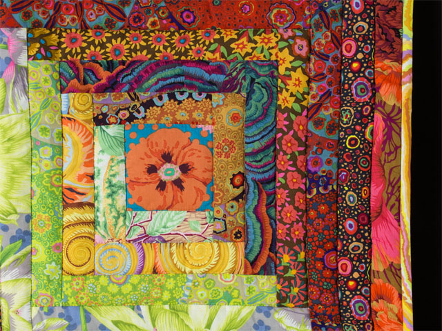 Log Cabin Kaffe Fassett Fabrics Flower Garden