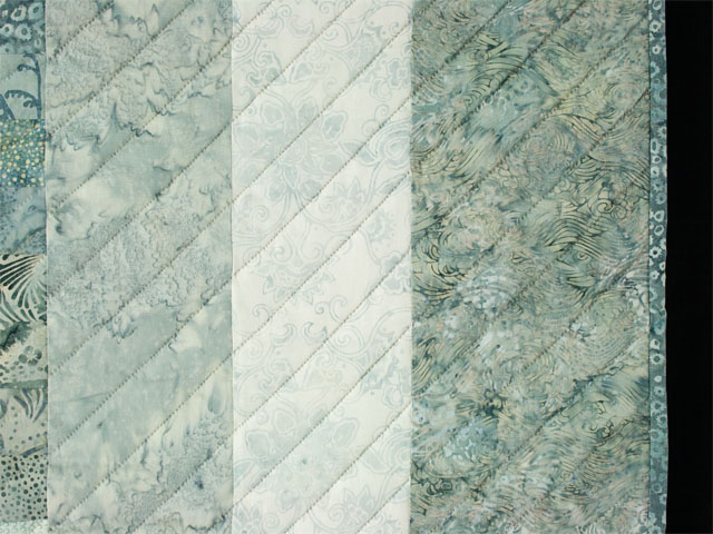 Bargello Wave King Size Soft Ocean Surf Steal Blues,creams Photo 5