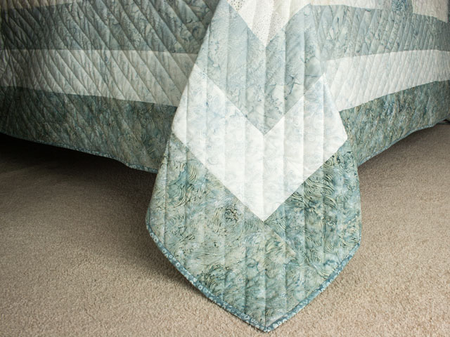 Bargello Wave King Size Soft Ocean Surf Steal Blues,creams Photo 7