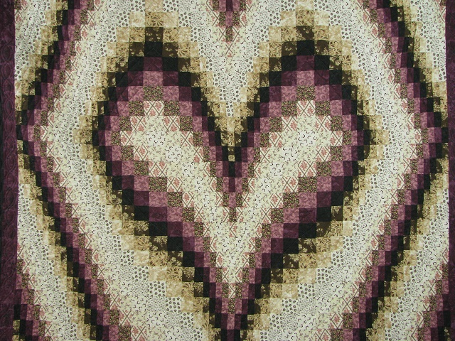 Plum and Beige Bargello Heart Photo 3